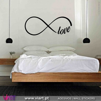 Infinity with word! Wall Sticker! Wall decal.