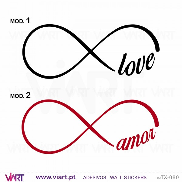infinity with word wall stickers viart