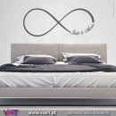 Infinity with customized words. Wall Sticker! Wall decal. Viart 1