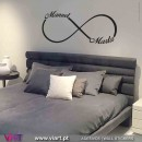 Infinity with customized names. Wall Sticker! Wall decal. Viart 1
