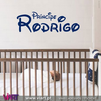 Customizable Prince Name. Wall Sticker
