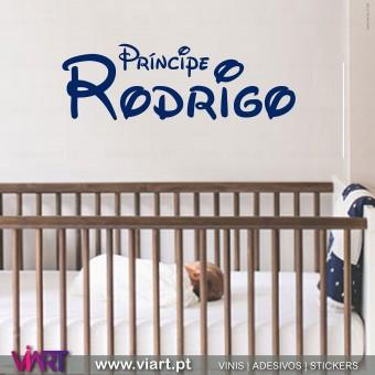 Príncipe... Nome Personalizável - Vinil Decorativo Parede