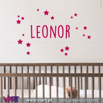 Customizable Girl Name. Wall Sticker