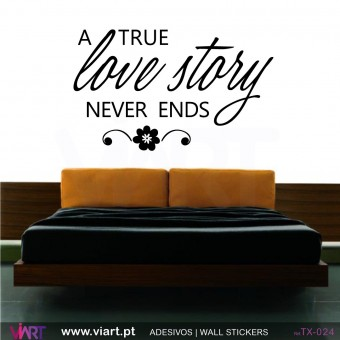 A TRUE LOVE STORY NEVER ENDS - Wall stickers - Vinyl decoration - Viart -1