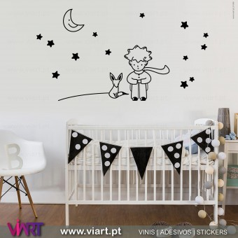 The Little Prince and the Fox! Wall Sticker - Viart 1