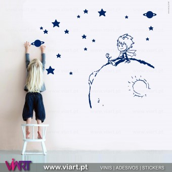 The Little Prince on the planet! Wall Sticker