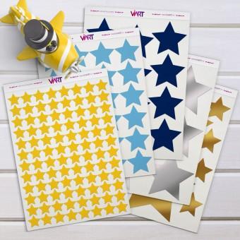 Estrelas - Kit em Vinil Autocolante Decorativo!! Adesivo Decoração de Parede! Viart -1