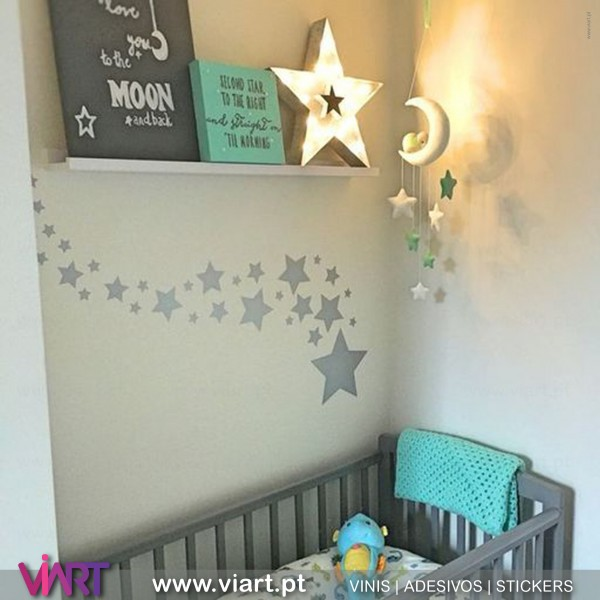 Stars Wall Stickers Wall Decal Set Viart