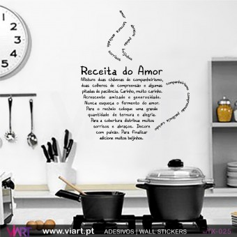 RECEITA DO AMOR - Wall sticker