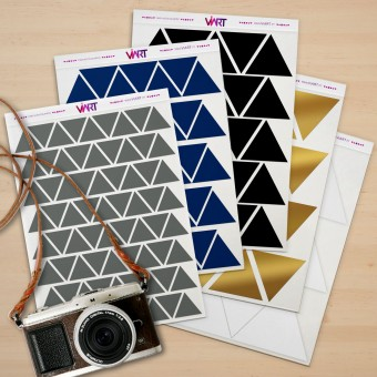 TRIANGLES. Wall Sticker. Wall Decal Set - Viart 1