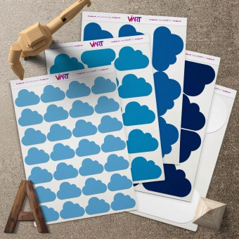 CLOUDS 1! Wall Sticker. Wall Decal Set - Viart 1