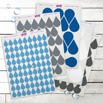 DROP! Wall Sticker. Wall Decal Set - Viart 1