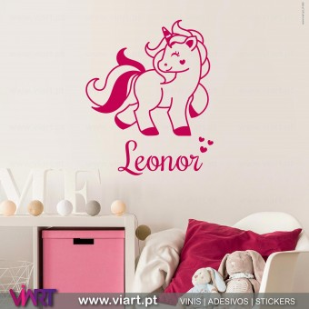 Heart Unicorn with name! Wall Sticker