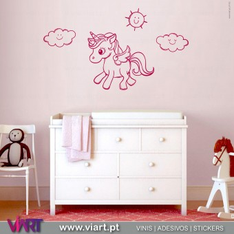 ViArt.pt - Unicorn with wings! Wall Sticker - Wall Decal - 1
