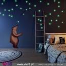 Estrelas que brilham no escuro! Vinil Autocolante Decorativo!! Adesivo Decoração de Parede! Viart -1