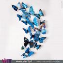 Conjunto de 12 Borboletas Magnéticas Azuis! Efeito 3D! Viart 1
