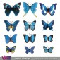 12 Blue 3D Butterfly Magnetic Wall Stickers - Viart 10