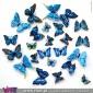 Conjunto de 12 Borboletas Magnéticas Azuis! Efeito 3D! Viart