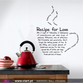 RECIPE FOR LOVE - Wall sticker