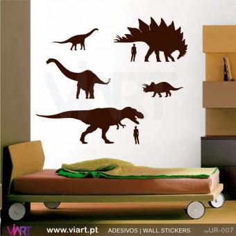 No mundo dos Dinossauros! Vinil Decorativo Parede! Decoração em vinil adesivo - Viart