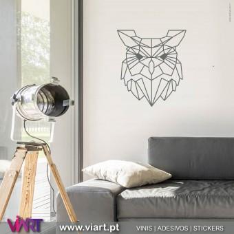ViArt.pt - Origami! Cabeça de Mocho! Vinil Decorativo Parede! Decoração em Vinil Adesivo - 1