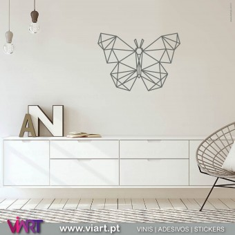 ViArt.pt - Drawn Origami Butterfly! Wall Sticker - Wall Decal - 1