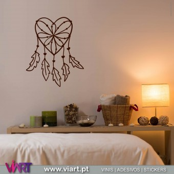 ViArt.pt - Caçador de Sonhos - Dreamcatcher!! Vinil Decorativo Parede! Decoração em Vinil Adesivo - 1
