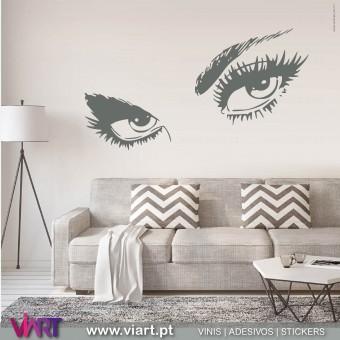 ViArt.pt - Olhar...  Vinil Decorativo Parede! Decoração em Vinil Adesivo - 1