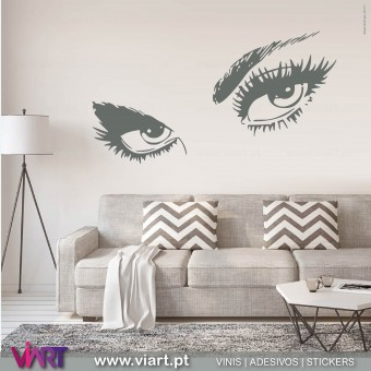 The eyes are the window of the soul... Wall Stickers.