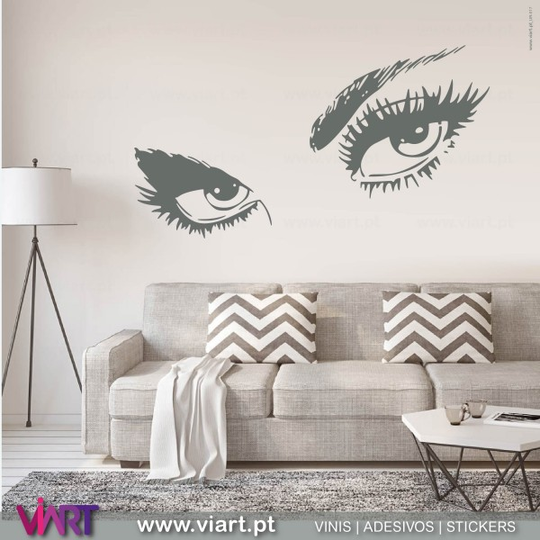 the eyes are the window of the soul wall stickers - wall art