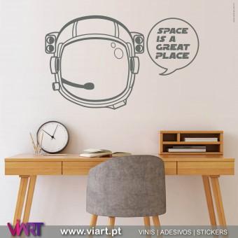 ViArt.pt - SPACE IS A GREAT PLACE! Vinil Decorativo Parede! Decoração em Vinil Adesivo - 1