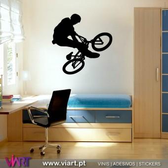 ViArt.pt - Bicicleta! Btt! Vinil Decorativo Parede! Decoração em Vinil Adesivo - 1