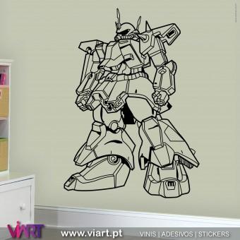 ViArt.pt - COOL ROBOT! Vinil Decorativo Parede! Decoração em Vinil Adesivo - 1
