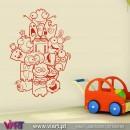 ViArt.pt - Bonecos Malucos e divertidos! :) Vinil Decorativo Parede! Decoração em Vinil Adesivo - 1