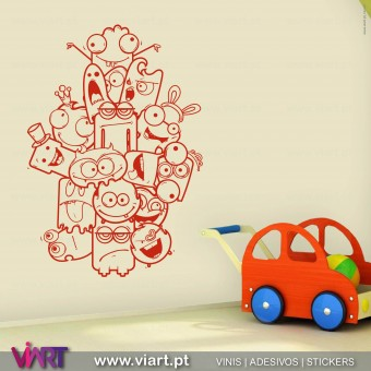 ViArt.pt - Crazy and Funny :)  Wall Sticker - Wall Decal - 1