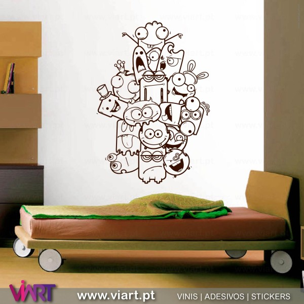 ... ViArt.pt - Crazy and Funny :) Wall Sticker - Wall Decal - 2 ...