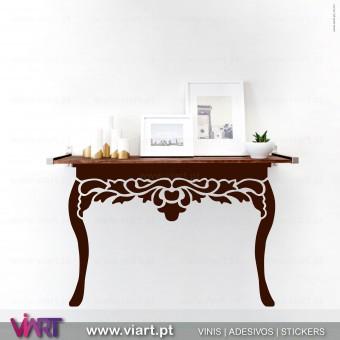 ViArt.pt - Mesa de hall! Consola! Vinil Decorativo Parede! Decoração em Vinil Adesivo - 1