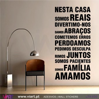 NESTA CASA… Wall sticker