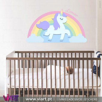 Viart.pt - Unicorn with name 1! Wall Sticker - Wall Decal - 1