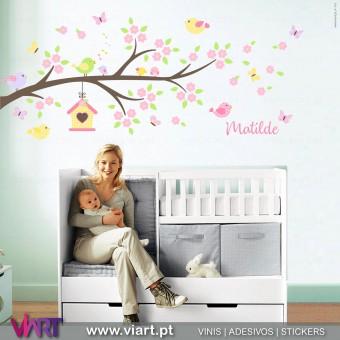 Viart.pt - Encantador ramo de flores com nome! Vinil Decorativo Parede. Decoração em Vinil Adesivo - 1