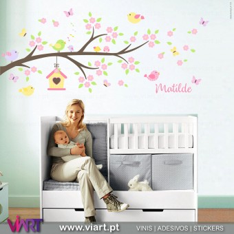 Viart.pt - Enchanted branch with name! Wall Sticker - Wall Decal - 1