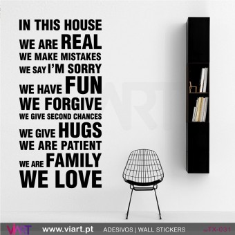 IN THIS HOUSE… Wall stickers!