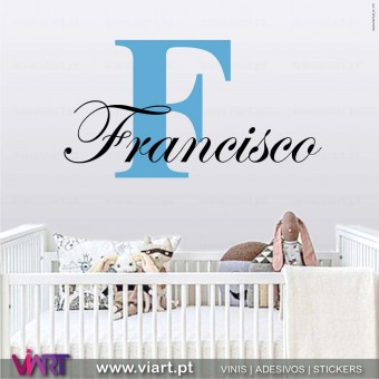 Viart.pt - Elegant Customizable Boy Name!  Wall Sticker - Wall Decal - 1