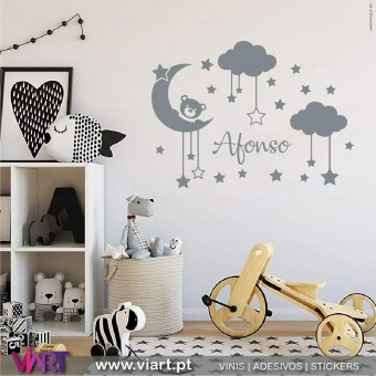 Viart.pt - Baby in the sky with name!  Wall Sticker - Wall Decal - 1