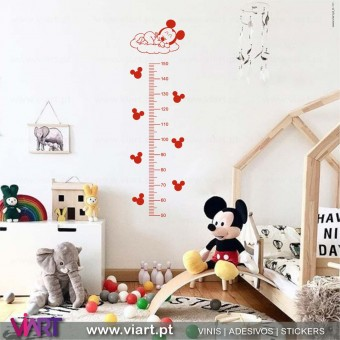 Viart.pt - Baby Mickey Growth Ruler! Wall Sticker - Wall Decal - 1