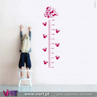 Viart.pt - Baby Minnie Growth Ruler! Wall Sticker - Wall Decal - 1