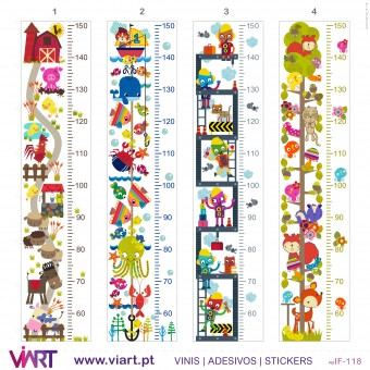 Viart.pt - Fantasy Growth Ruler! Wall Sticker - Wall Decal - 1