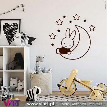 Viart.pt - Miffy in the Stars! Wall Sticker - Wall Decal - 1