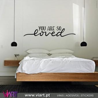 Viart.pt - You Are So Loved! Vinil Decorativo Parede. Decoração em Vinil Adesivo - 1