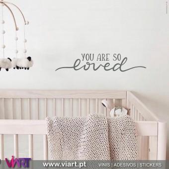 Viart.pt - You Are So Loved! Vinil Decorativo Parede. Decoração em Vinil Adesivo - 3